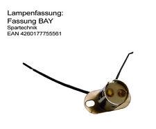 Douille volante p BAY15D avec collerette - Culot ampoule BAY-15D 2 cables fixage