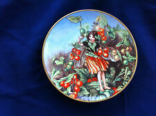 "Gresham The Flower Fairies Year ""The Black Bryony Fairy"" plate"