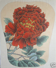 """Original Gongbi Style Chinese Painting on Paper: Peony Flower 13.78""""x17.72"""""""