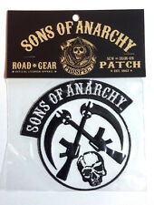 "Sons of Anarchy Skull/Guns Logo 3.75"" Embroidered Patch- FREE USA S&H (SOAPA-01)"