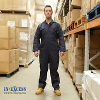 Promech Navy Blue Overalls Coverall Protective Boiler Suit Mechanic Work Mens