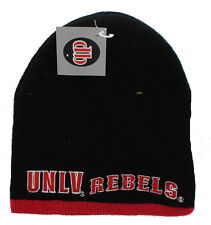 New! UNLV Rebels Embroidered Beanie Hat Reversible Knit Skull Cap