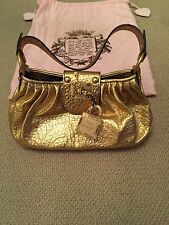 Juicy Couture Oro Bolso De Cuero