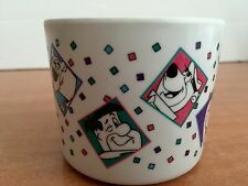 The Flintstones Cup Mug YOGI SCOOBY Plastic Hanna Barbera Cartoon Dino 1993 VTG