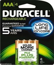 Duracell DX2400 Rechargable Ni-MH Batteries AAA 4/pack