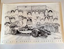 MID OHIO SPORTS CAR COURSE 1993 Poster WARRICK Mid-Ohio Racing Good Year Miller