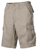 New Mens Army Style FASHION Combat Cargo Shorts KHAKI  -