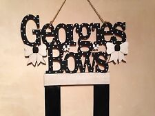 Girls Bespoke Hair Bow Holder. Personalised. (Any Name, Any Colour/ Theme)