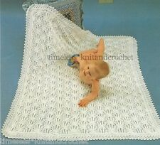 VINTAGE KNITTING PATTERN FOR GORGEOUS BABY / BABY'S  SHAWL / BLANKET - 4PLY