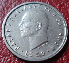 1959 GREECE 1 DRACHMA IN EF CONDITION