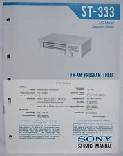 SONY ST-333 AM / FM Program Tuner Original SERVICE MANUAL repair