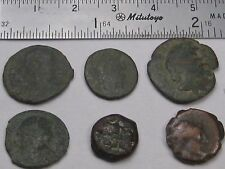 6 Un-Identified ROMAN COINS. Mostly ca. 3rd-4th Century AD. #20