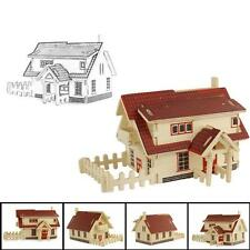 European house 3D jigsaw puzzle toys wooden adult children's intelligence toys H