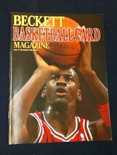 1990 Beckett Basketball Card Magazine #1 Issue with Michael Jordan On Cover!