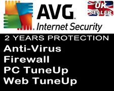AVG INTERNET SECURITY 2017 - 1 PC FOR 2 YEARS - QUICK DOWNLOAD