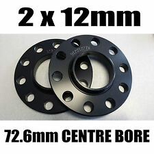 BMW M3 BLACK HUBCENTRIC WHEEL SPACERS X2 12MM SPACERS + M12 x 1.50 BOLTS E46 E90