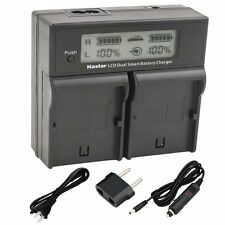 LCD Dual Fast Charger for Sony NP-FH50 FV50 FP51 FP71 FV70 FH70 FV100 FH100