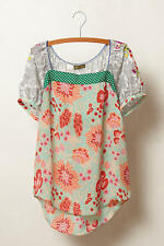 Anthropologie Archival Collection Mixed Print Top Boho Blouse by Fei Size L