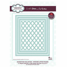 Craft Die CED9303 Sue Wilson Shadow Boxes Collection - Stitched Lattice