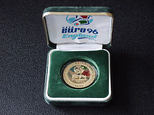 "ENGLAND ""EURO 96"" COMMEMORATIVE MEDAL WITH BOX & COA"