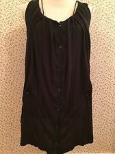 All Saints Washed Black Tunic Top