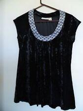 Donna Karan DKNY Stretch Velvet Top Sleeveless Sz  M (8/10) BLACK