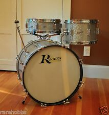 Rogers DELTA Drum Set Sparkling Silver Pearl ~ COLLECTOR QUALITY