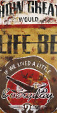 Life Be By Rodney White Retro Travel Airplane Poster Fine Art Print Paper 12x24