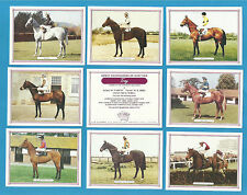 Cigarette/Trade Cards - HORSE RACING - GREAT RACEHORSE OF OUR TIME - Mint set