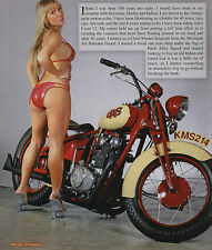 THE HORSE #129 MOTORCYCLE MAGAZINE BOBBER CHOPPER PIN UP BIKE TRIUMPH OLD SCHOOL