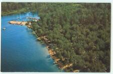 West Ossipee NH Westward Shores Camping Area Vintage 60s Chrome Postcard 22648