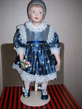 HANNA---BY MICHELE SEVERINO---PORCELAIN SHOULDER HEAD DOLL--V.G.C.