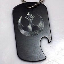 "Imperial Star Wars New Black Key Chain 4"" Chain Dog Tag Bottle Opener EDG-0179"
