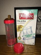 Vintage Playtex Eazy-feed Drop In Bottle Round Top Nipple Red Liners New