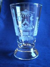 CONTINENTAL MASONIC FIRING GLASS WHEEL ENGRAVED WITH ALMS DISH c1880