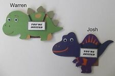 Dinosaur Invitation Card/ Dino Card/ Handmade dinosaur invitation card/Set of 12