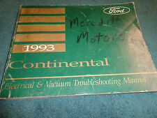 1993 LINCOLN CONTINENTAL WIRING VACUUM DIAGRAM SHOP MANUAL ELECTRICAL DIAGNOSIS