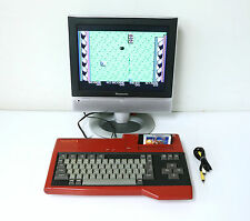 """SANYO MSX WAVY RED Personal Computer Console """"Excellent +"""" Tested Properly!!!"""