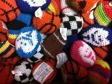 12 ASSORTED HACKY SACK KICKBALLS / FOOTBAGS Woven Knitted #ST2 Free Shipping