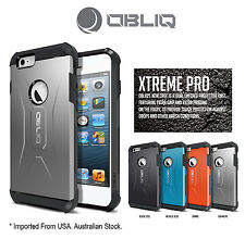 Genuine Obliq Xtreme Pro Bumper Shock Scratch iPhone 6 4.7 Case Cover Gun Metal