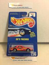 '80's Firebird #256 * Pink * Blue Card Hot Wheels * E37