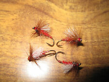 4 Vainer's Ultimate RV Super Aero Red Bits Emerger Trout V Flies Size 12