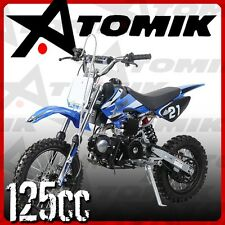 NEW ATOMIK MOTO X 125CC MOTOR PIT DIRT BIKE MOTOCROSS TRAIL TERRAIN MOTORBIKE MX
