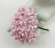 25 Small Pale Pink Mulberry Paper Flowers Scrapbook Wedding Decor Crafts ZS15-2