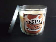 One Bath & Body Works 3 Wick Candle VANILLA PUMPKIN MARSHMALLOW 14.5oz Cafe Fall