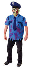 ADULT MEN'S ZOMBIE COP DEAD POLICEMAN PC NEW YORK COSTUME & MASK NEW ONE SIZE L