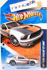 2011 Hot Wheels NIGHTBURNERZ #111 * '07 FORD SHELBY GT-500 * WHITE- COMBO SHIP'N