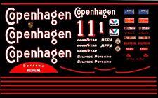 #1 AJ Foyt Copenhagen Porsche 962 1988 1/24th - 25th Scale Waterslide Decals