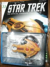 STAR TREK STARSHIPS FIGURE COLLECTION #33 Cardassian Hideki Class EAGLEMOSS