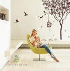 Stylish Tree & Birds Wall Art Stickers, Wall Decor, Wall Decal Stickers -- PD414